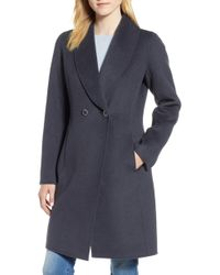 Tahari - Caleigh Fitted Wool Blend Coat - Lyst