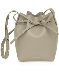 Mansur Gavriel - Mini Saffiano Leather Bucket Bag - Lyst
