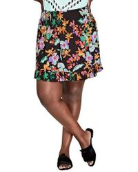 City Chic - Molokai Floral Skirt - Lyst