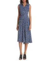 Kate Spade - Cloud Dot Midi Dress - Lyst