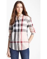 Burberry Brit - Check Woven Shirt - Lyst