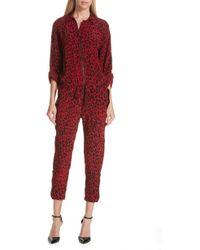 Robert Rodriguez - Leopard Print Crop Jumpsuit - Lyst