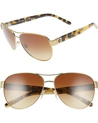 3008e89518d5 Lyst - Tory Burch Rimless Butterfly Sunglasses Blue in Blue