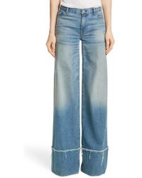 Nili Lotan - Savina Wide Leg Jeans - Lyst