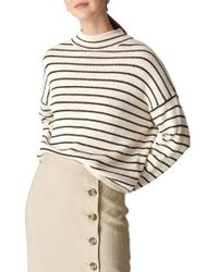 Whistles - Fine Stripe Relaxed Sweater - Lyst
