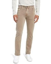 PAIGE - Transcend - Lennox Slim Fit Twill Pants - Lyst