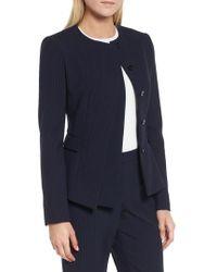 BOSS - Jadela Pinstripe Suit Jacket - Lyst
