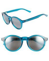 Maui Jim - Pineapple 50mm Polarized Round Sunglasses - Teal Green - Lyst