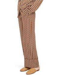 TOPSHOP - Geo Print Pajama Trousers - Lyst