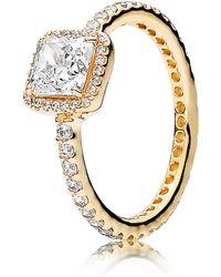 PANDORA - Timeless Elegance 14k Gold Ring - Lyst