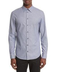 Armani - Armani Collezioni Geo Jacquard Sport Shirt - Lyst