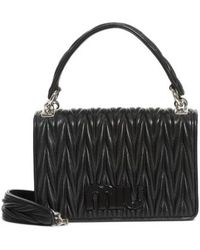 5b50b5830b8 Miu Miu - Matelasse Quilted Lambskin Leather Top Handle Bag - - Lyst