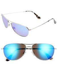 Maui Jim | Sea House 60mm Polarized Titanium Aviator Sunglasses | Lyst