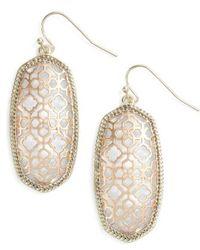 Kendra Scott - Elle Openwork Drop Earrings - Lyst
