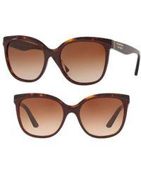 58ef6a0a61e7 Burberry - Marblecheck 55mm Square Sunglasses - Bordeaux Gradient - Lyst