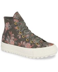Converse - Chuck Taylor All Star Lift Ripple Parkway Floral High Top Sneaker - Lyst