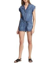 Sanctuary - Scout Denim Romper - Lyst
