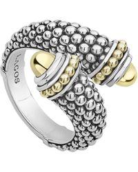 Lagos - Signature Caviar Gold Cap Crossover Ring - Lyst