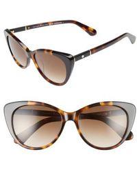 Kate Spade   Sherylyn 54mm Sunglasses - Havana/ Black   Lyst