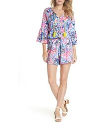 Lilly Pulitzer - Lilly Pulitzer Del Lago Romper - Lyst