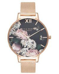 Olivia Burton - Signature Floral Mesh Strap Watch - Lyst