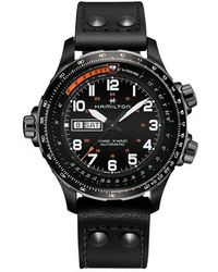 Hamilton - Khaki X-wind Automatic Chronograph Leather Strap Watch - Lyst