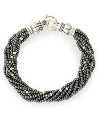 Lagos - Caviar Icon Hematite Bracelet - Lyst