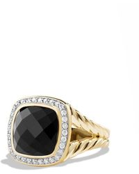 David Yurman - 'albion' Ring With Semiprecious Stone And Diamonds In 18k Gold - Lyst