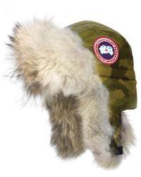 Canada Goose - Aviator Hat With Genuine Coyote Fur Trim - Lyst
