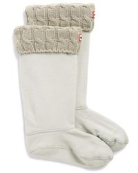 HUNTER - Original Tall Cable Knit Cuff Welly Boot Socks - Lyst