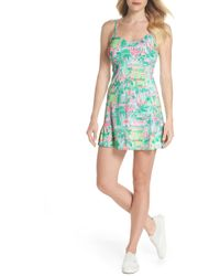 Lilly Pulitzer - Lilly Pulitzer Adelia Upf 50+ Tennis Dress - Lyst