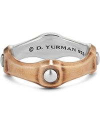 David Yurman - Anvil Band Ring With Bronze - Lyst
