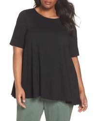 Eileen Fisher - Jewel Neck Elbow Sleeve Tunic - Lyst