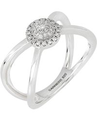 CARRIERE JEWELRY - Carriere Diamond Crisscross Ring (nordstrom Exclusive) - Lyst