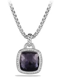 David Yurman - 'albion' Pendant With Semiprecious Stone And Diamonds - Lyst