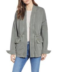 9fd1517be8 James Perse - Military Cardigan Jacket - Lyst