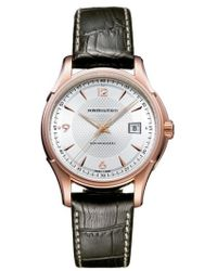 Hamilton | Jazzmaster Viewmatic Auto Leather Strap Watch | Lyst