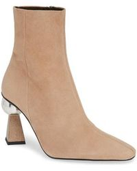TOPSHOP - Hexagon Statement Heel Bootie - Lyst