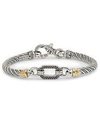 Konstantino - Hermione Silver & Gold Bracelet With Black Diamonds - Lyst