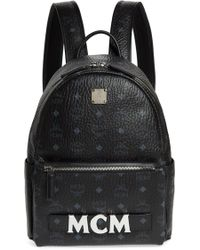 MCM - Small Stark Trilogie Canvas Backpack - Lyst