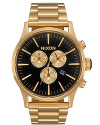Nixon - 'the Sentry' Chronograph Bracelet Watch - Lyst