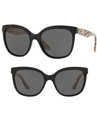 Burberry - Marblecheck 55mm Square Sunglasses - Lyst