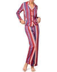 Reformation - Stripe Pajamas - Lyst
