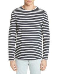 A.P.C. - Mariniere Matt Stripe Long Sleeve T-shirt - Lyst