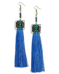 Mad Jewels - Blue Lagoon Jade Tassel Earrings - Lyst