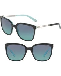 b72f233a2508 Lyst - Tiffany   Co Tiffany Women s Tf4047b 55mm Polarized Sunglasses