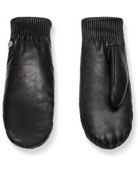 Canada Goose - Rib Cuff Leather Mittens - Lyst