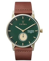 Triwa - Falken Leather Strap Watch - Lyst