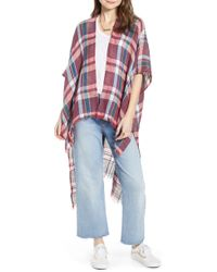 Free People - Reverie Plaid Duster - Lyst