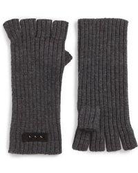 John Varvatos - Rib Knit Fingerless Gloves - Lyst
